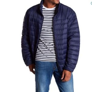 HAWKE & CO Navy Quilted Packable Down Jacket ~L~